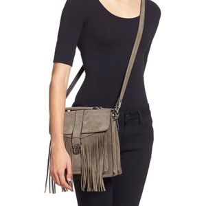 Patricia Nash Suede Fringe Crossbody Satchel Purse